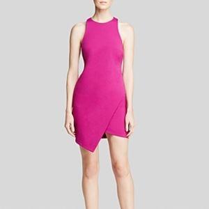 Bec & Bridge Isis Angle Mini Dress in Pink/Violet